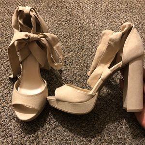 Size 10 forever 21 platform peep toes